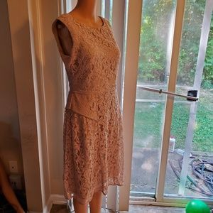 Adrianna papell rose lace dress